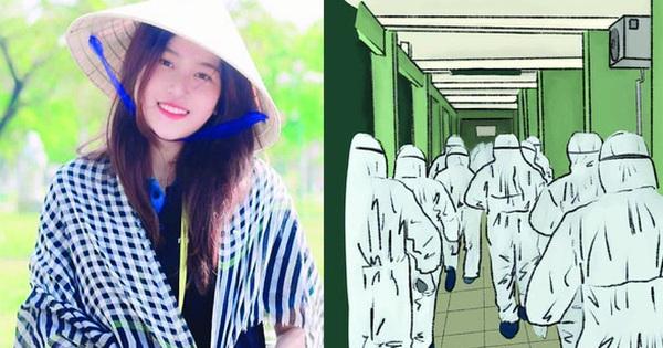 Lời cảm ơn những người hùng ''áo trắng'' được khắc họa trong bộ tranh tri ân vô cùng xúc động của nữ sinh Đà Nẵng