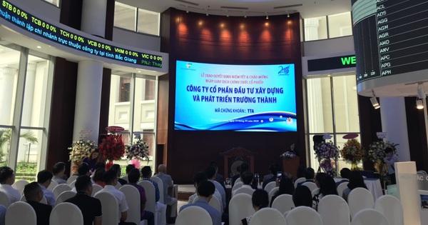 Trường Thành (TTA): Khớp lệnh hơn 5 triệu cổ phiếu tại giá trần trong phiên đầu chào sàn HoSE