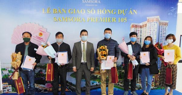 Chủ đầu tư Samsora Premier 105 thực hiện đúng cam kết trao sổ hồng cho cư dân