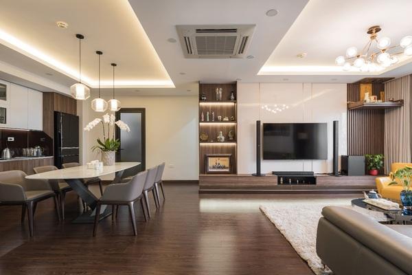 """Căn hộ 120m² đẹp """"sang chảnh"""" chẳng kém gì biệt thự tại Hà Nội"""