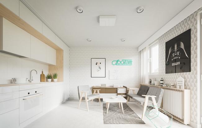 Mẫu thiết kế căn hộ 20m2 cực tiện nghi và nhiều không gian