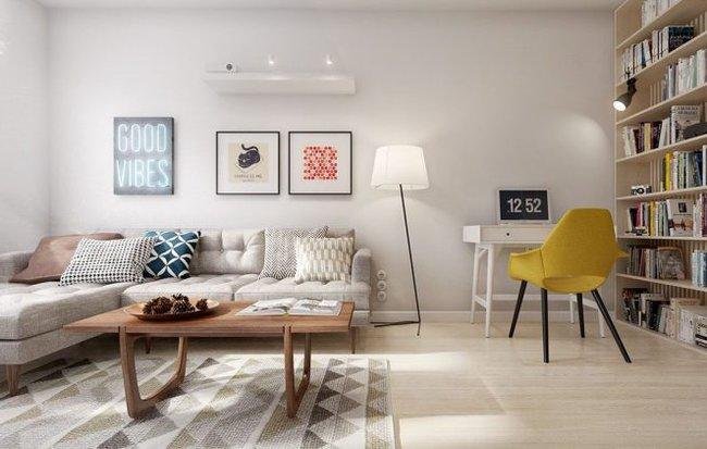 Chiêm ngưỡng thiết kế căn hộ 60m2 đẹp, tiện nghi cho gia đình trẻ